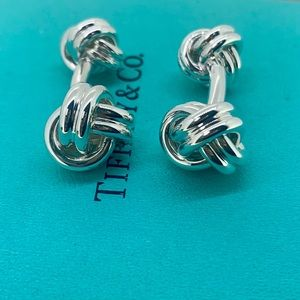 Tiffany & Co Double Knot Cuff Links NWOT